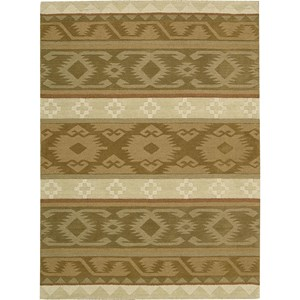 "Nourison India House 3'6"" x 5'6"" Camel Area Rug"