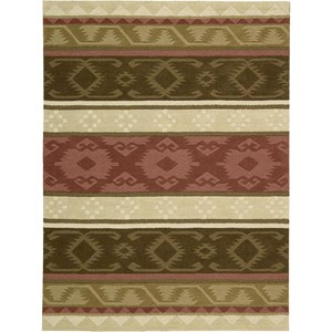 "Nourison India House 8' x 10'6"" Espresso Area Rug"