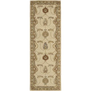 "Nourison India House 2'3"" x 7'6"" Ivory Gold Area Rug"