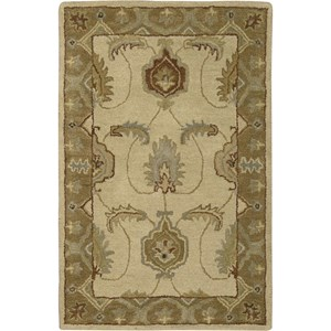 "Nourison India House 2'6"" x 4' Ivory Gold Area Rug"