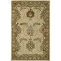 "Nourison India House 2'6"" x 4' Ivory Gold Area Rug - Item Number: 23179"