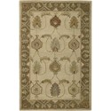 "Nourison India House 3'6"" x 5'6"" Ivory Gold Area Rug - Item Number: 23180"