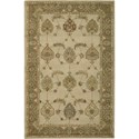 Nourison India House 5' x 8' Ivory Gold Area Rug - Item Number: 23181