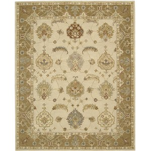 "Nourison India House 8' x 10'6"" Ivory Gold Area Rug"