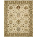 "Nourison India House 8' x 10'6"" Ivory Gold Area Rug - Item Number: 23182"