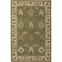 "Nourison India House 3'6"" x 5'6"" Kiwi Area Rug - Item Number: 23185"