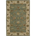 "Nourison India House 2'6"" x 4' Seafoam Area Rug - Item Number: 23195"
