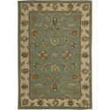 "Nourison India House 3'6"" x 5'6"" Seafoam Area Rug - Item Number: 23197"