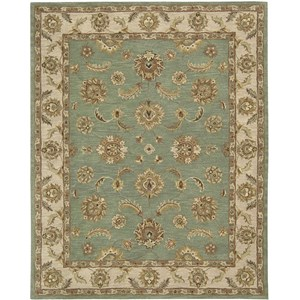 "Nourison India House 8' x 10'6"" Seafoam Area Rug"