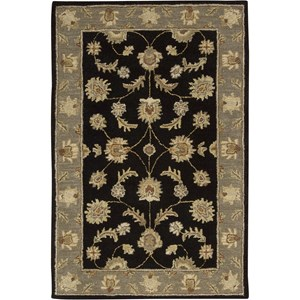 "Nourison India House 2'6"" x 4' Black Area Rug"