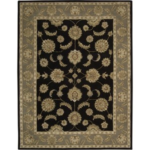 "Nourison India House 8' x 10'6"" Black Area Rug"
