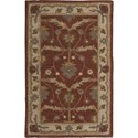 "Nourison India House 3'6"" x 5'6"" Brick Area Rug - Item Number: 26164"