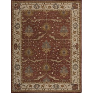 "Nourison India House 8' x 10'6"" Brick Area Rug"