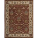 "Nourison India House 8' x 10'6"" Brick Area Rug - Item Number: 26281"