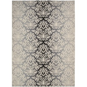 "Nourison Riviera 7'9"" x 10'10"" Charcoal Area Rug"