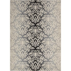 "Nourison Riviera 5'3"" x 7'5"" Charcoal Area Rug"