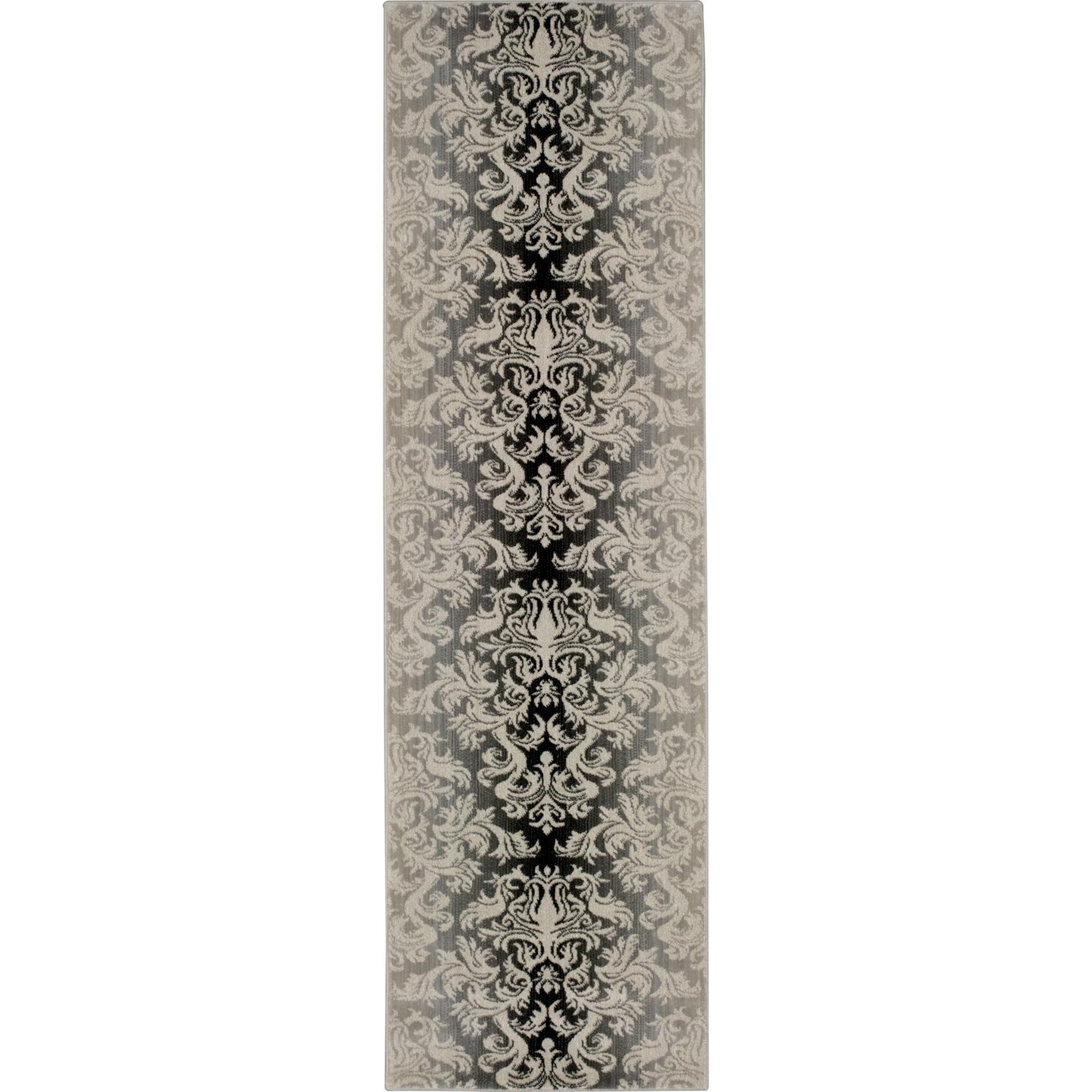 """Nourison Riviera 2'3"""" x 8' Charcoal Area Rug - Item Number: 27157"""