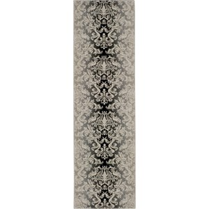 "Nourison Riviera 2'3"" x 8' Charcoal Area Rug"