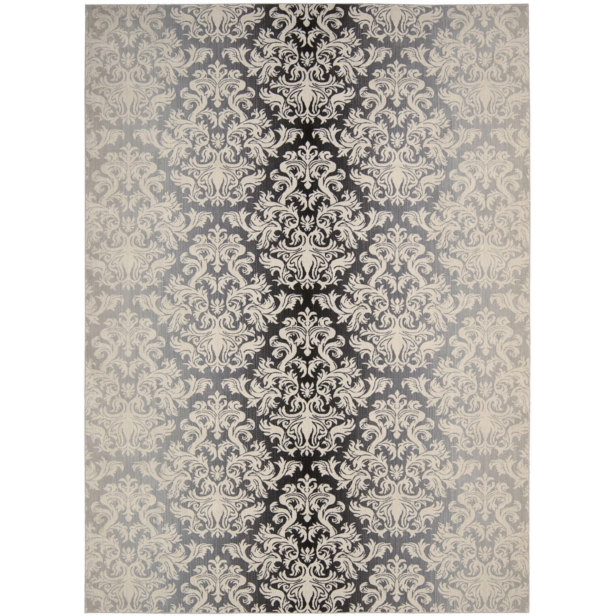 "Nourison Riviera 2' x 2'9"" Charcoal Area Rug - Item Number: 27160"