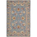 "Nourison Nourmak 5'10"" x 8'10"" Blue Area Rug - Item Number: 01581"