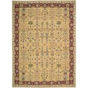 "Nourison Nourmak 8'10"" x 11'10"" Yellow Area Rug - Item Number: 87444"