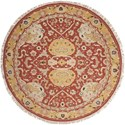 Nourison Nourmak 8' x 8' Rust Round Rug - Item Number: S116 RUS 8X8