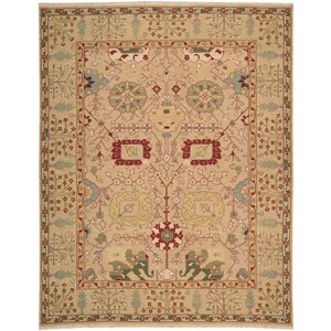 """7'10"""" x 9'10"""" Gold Rectangle Rug"""
