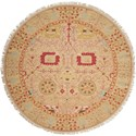 Nourison Nourmak 8' x 8' Gold Round Rug - Item Number: S123 GLD 8X8