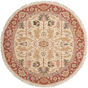 8' x 8' Light Gold Round Rug