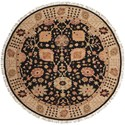 Nourison Nourmak 8' x 8' Black Round Rug - Item Number: S169 BLK 8X8