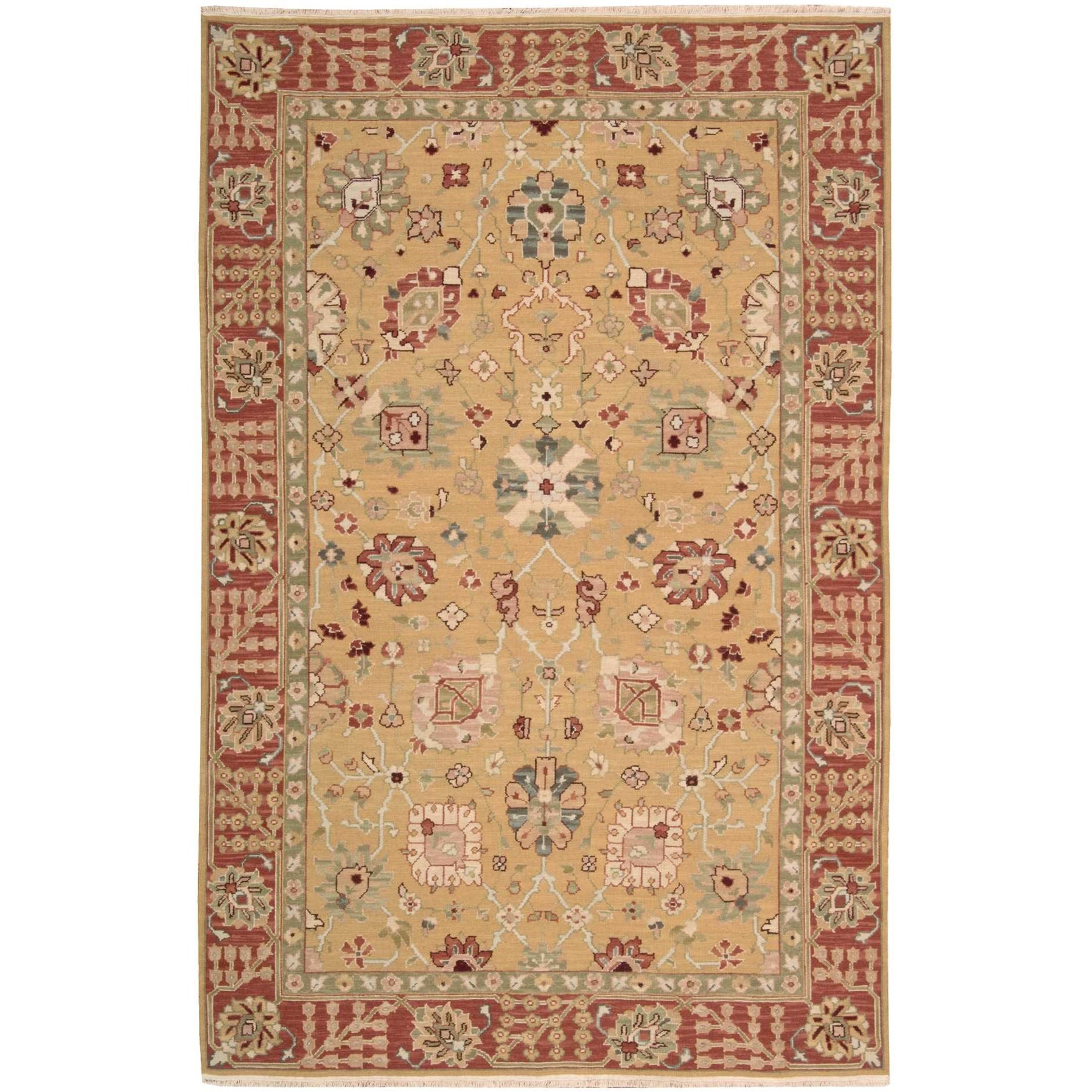 "3'10"" x 5'10"" Gold Rectangle Rug"