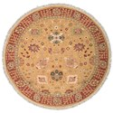 Nourison Nourmak 8' x 8' Gold Round Rug - Item Number: S169 GLD 8X8