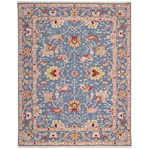 "Nourison Nourmak 9'10"" x 13'10"" Blue Rectangle Rug"