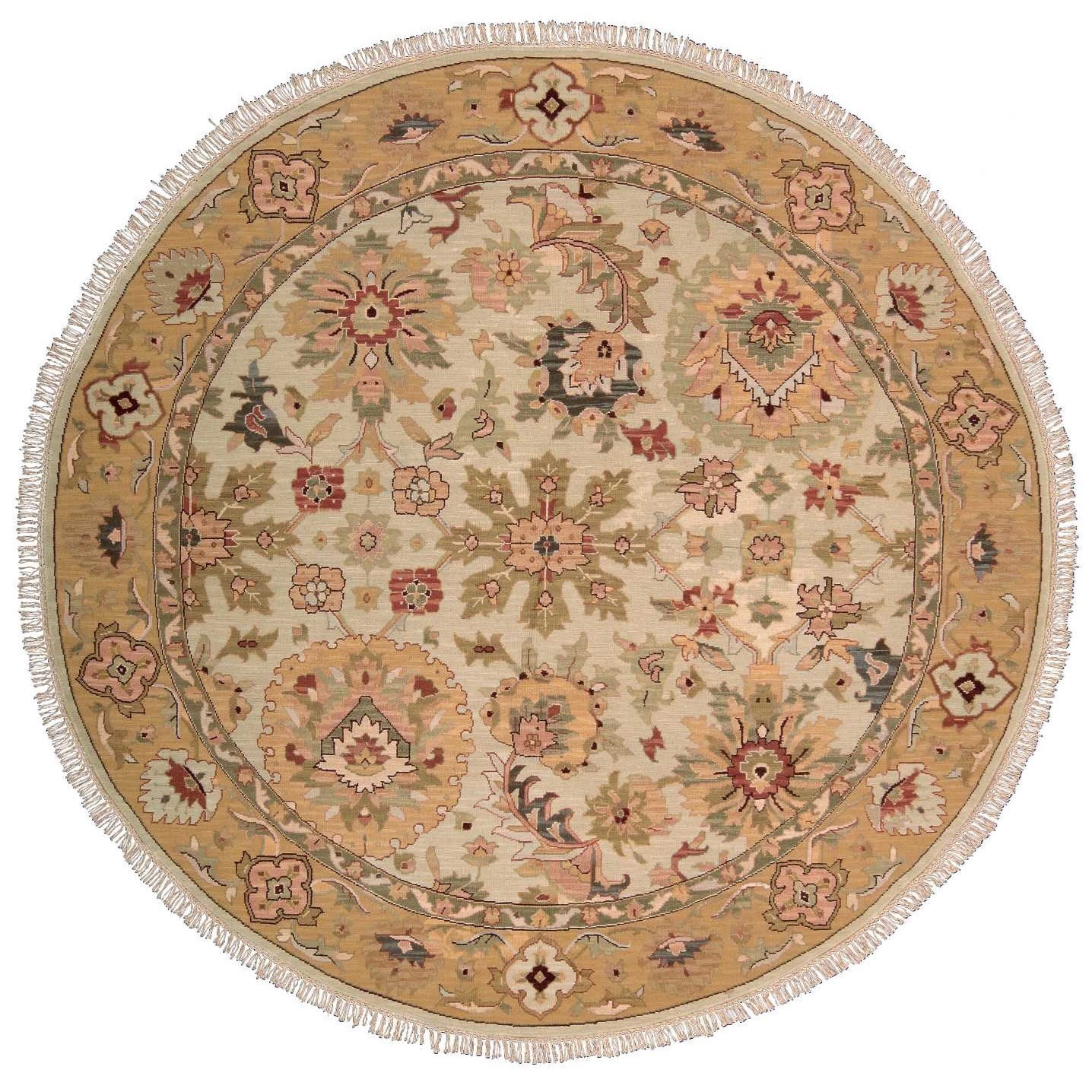 Nourison Nourmak 8' x 8' Beige Round Rug - Item Number: S174 BGE 8X8