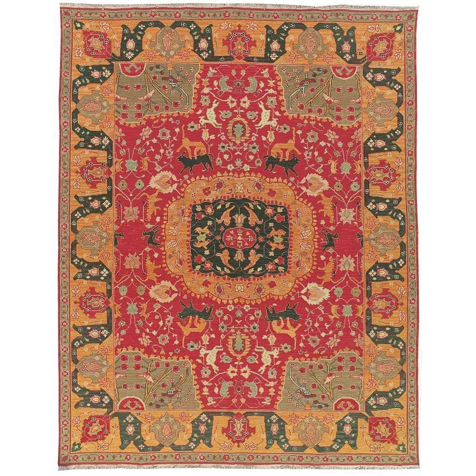 """8'10"""" x 11'10"""" Red Rectangle Rug"""