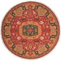 Nourison Nourmak 8' x 8' Red Round Rug - Item Number: SK63 RED 8X8