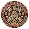 Nourison Nourmak 8' x 8' Black Round Rug - Item Number: SK70 BLK 8X8