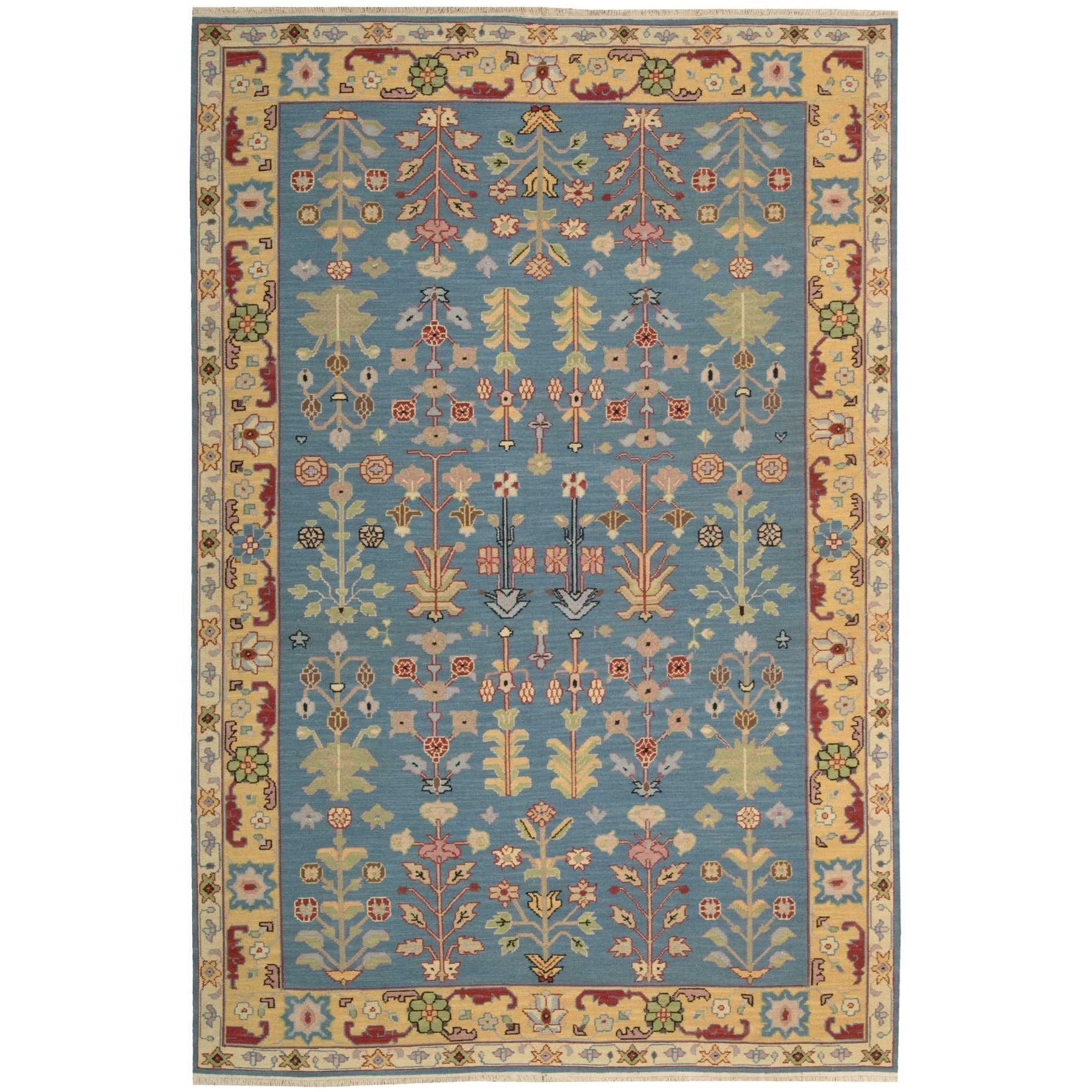 "3'10"" x 5'10"" Blue Rectangle Rug"