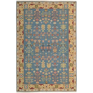 "Nourison Nourmak 3'10"" x 5'10"" Blue Rectangle Rug"