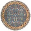 Nourison Nourmak 8' x 8' Blue Round Rug - Item Number: SK92 BL 8X8