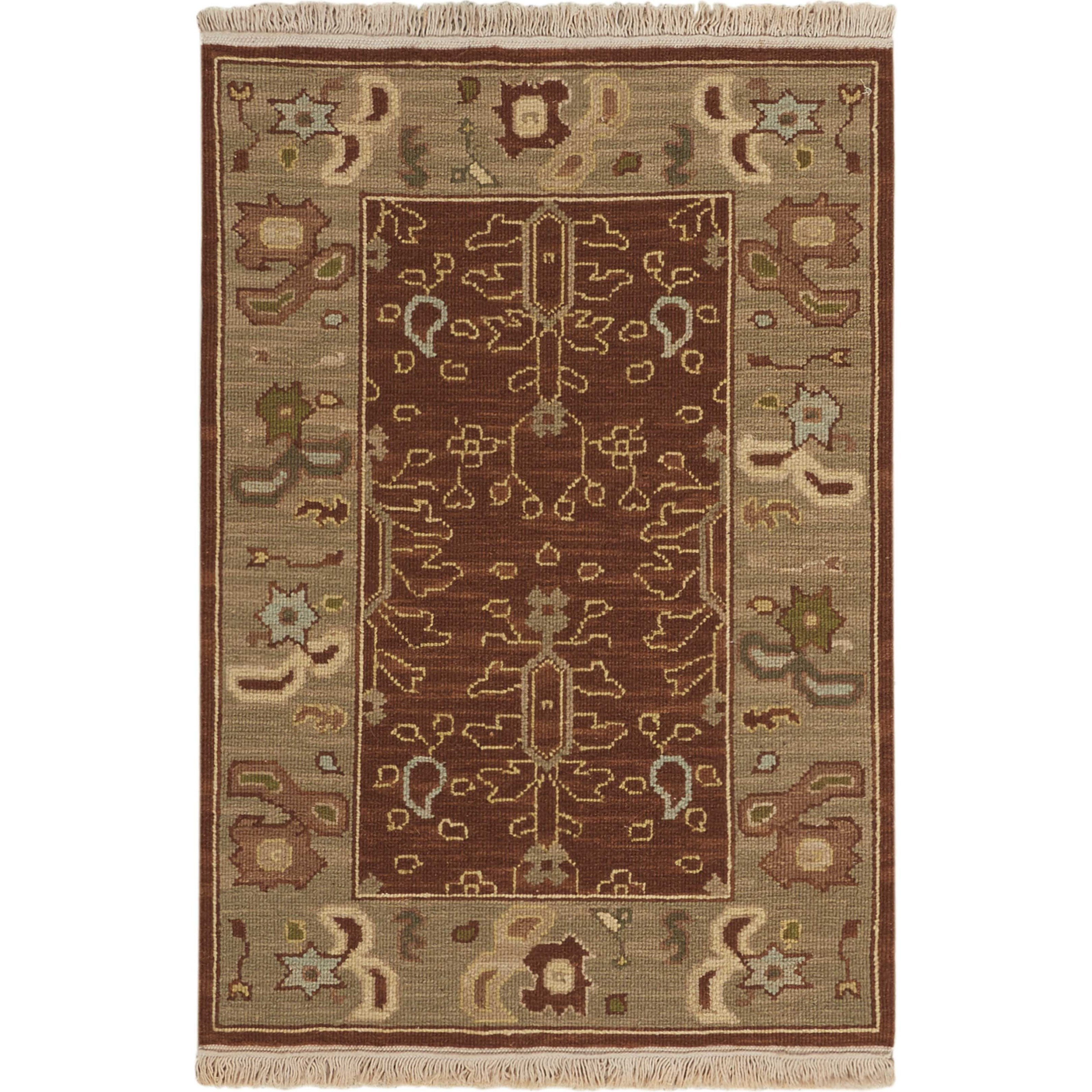 2' x 3' Brown Rectangle Rug
