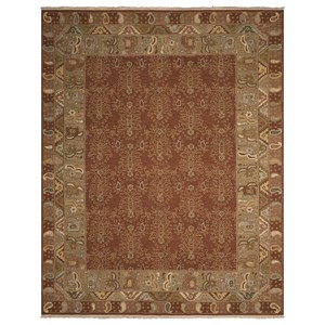 "Nourison Nourmak 7'10"" x 9'10"" Brown Rectangle Rug"