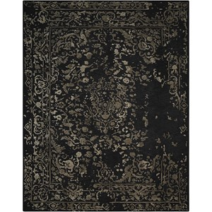"9'9"" X 13'9"" Midnight Silver Rug"