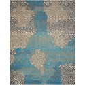"Nourison Opaline 7'9"" X 9'9"" Charcoal Rug - Item Number: OPA13 CHARC 79X99"