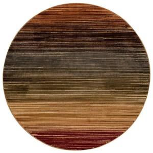 "Nourison Paramount 5'3"" x 5'3"" Multicolor Round Rug"