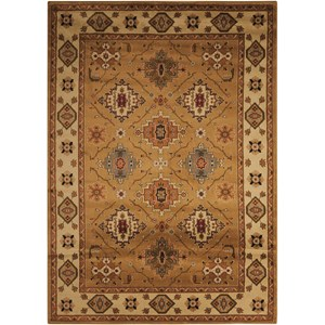 "Nourison Paramount 3'11"" x 5'10"" Gold Rectangle Rug"