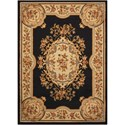 "Nourison Paramount 7'10"" x 10'6"" Black Rectangle Rug - Item Number: PAR37 BLK 710X106"