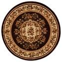 "Nourison Paramount 5'3"" x 5'3"" Chocolate Round Rug - Item Number: PAR37 CHO 53X53"