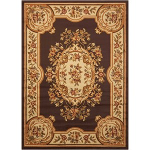 "5'3"" x 7'3"" Chocolate Rectangle Rug"