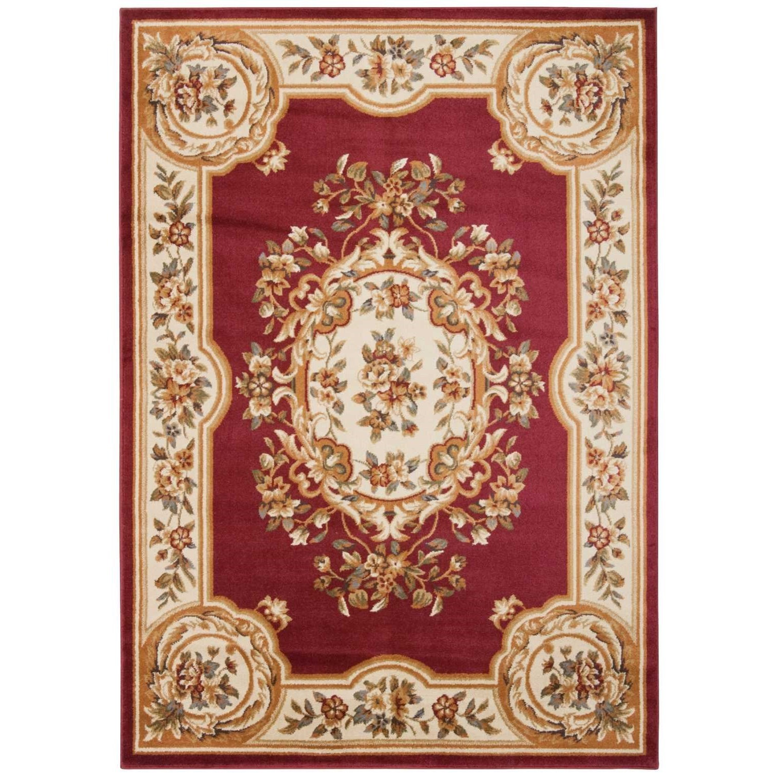 "3'11"" x 5'10"" Red Rectangle Rug"